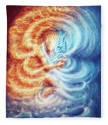 Fire And Ice Fleece Blanket