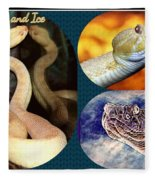 Fire And Ice Slither Collage Fleece Blanket