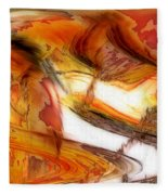 Fire And Rain Fleece Blanket