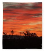 Fire At Dawn Fleece Blanket