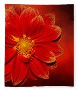 Fire Dahlia By Kaye Menner Fleece Blanket