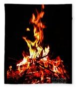 Fire Dancer Fleece Blanket