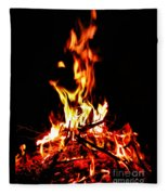 Fire Dancer Fleece Blanket