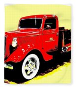 Fire Engine Ok Fleece Blanket