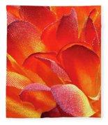 Fire Flower Fleece Blanket