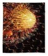 Fire Flower Fleece Blanket