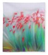 Fire-flowers-spring Fleece Blanket