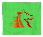 Fire Horse Fleece Blanket