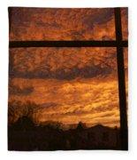 Fire In The Sky 2 Fleece Blanket