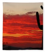 Fire In The Sky Fleece Blanket