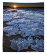 Fire Island Winter Fleece Blanket