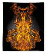 Fire Leather Fleece Blanket