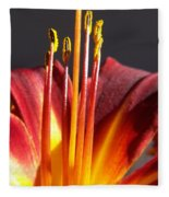 Fire Lily Fleece Blanket