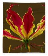 Fire Lily Fleece Blanket