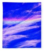Fire Rainbow Fleece Blanket