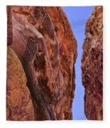Fire Rocks Fleece Blanket