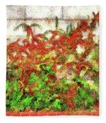 Fire Thorn - Pyracantha Fleece Blanket