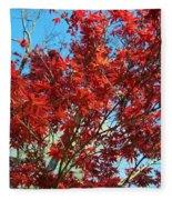 Fire Tree I Fleece Blanket
