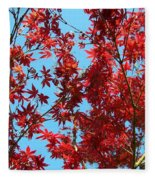 Fire Tree II Fleece Blanket