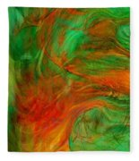 Fire Tree Fleece Blanket