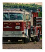 Fire Truck  Engine 13 Village Of Tully New York Pa Fleece Blanket