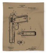 Firearm Handgun Fleece Blanket