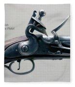 Firearms 1746 British Flintlock Horse Pistol Fleece Blanket