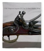 Firearms 1792 Virginia Legion Of The United States Rifle Fleece Blanket