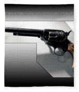 Firearms Tv Gunsmoke Marshall Dillon Colt Model 1873 Army Revolver Fleece Blanket