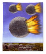 Fireballs Fleece Blanket