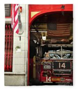 Firefighters Of New York - Engine Sweet 14 - Closeup Fleece Blanket