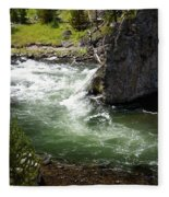 Firehole Canyon 1 Fleece Blanket