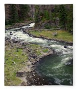 Firehole River 2 Fleece Blanket