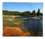 Firehole River Colors Fleece Blanket