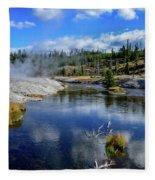 Firehole River Yellowstone Fleece Blanket