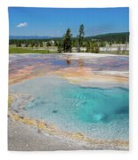 Firehole Spring Geyser Fleece Blanket