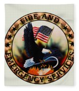 Fireman - Fire And Emergency Services Seal Fleece Blanket