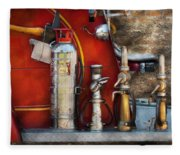 Fireman - An Assortment Of Nozzles Fleece Blanket