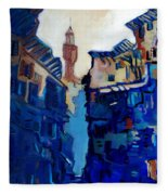 Firenze Street Study Fleece Blanket