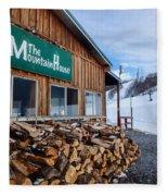 Firewood Ready To Burn In Fire Place Fleece Blanket