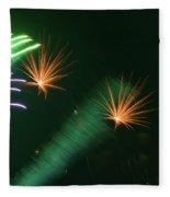 Firework Abstract Fleece Blanket