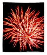 Firework Fireball Fleece Blanket