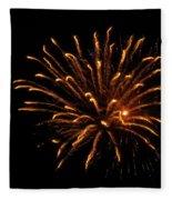 Firework Golden Lights Fleece Blanket
