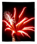 Firework Hibiscus Fleece Blanket