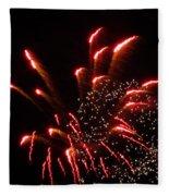 Firework Lights Of The City Fleece Blanket