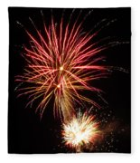 Firework Pink And Gold Fleece Blanket