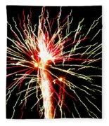 Firework Pink And Green Streaks Fleece Blanket