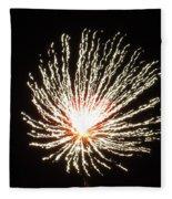 Firework White Fluff Fleece Blanket