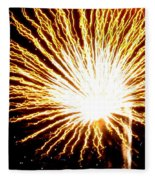 Firework Yellow Burst Fleece Blanket