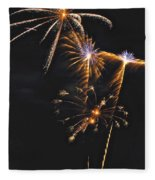Fireworks 3 Fleece Blanket